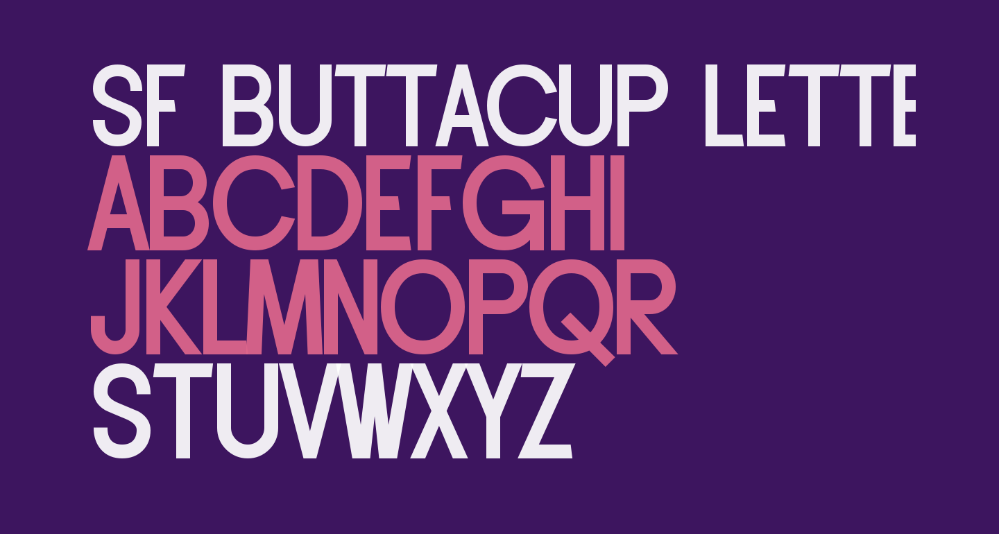 SF Buttacup Lettering Bold