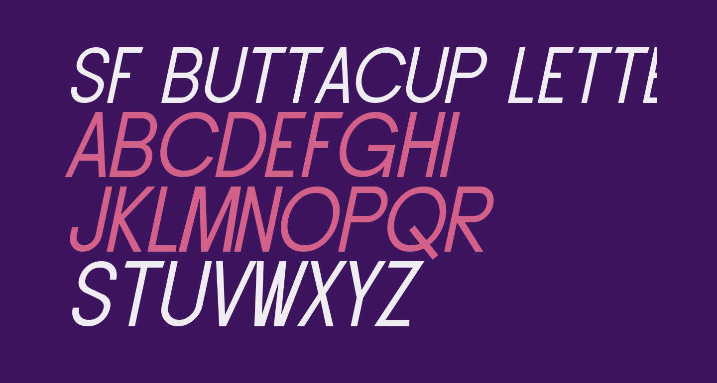 SF Buttacup Lettering Oblique