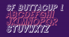 SF Buttacup Lettering Shaded Oblique