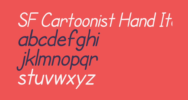 SF Cartoonist Hand Italic
