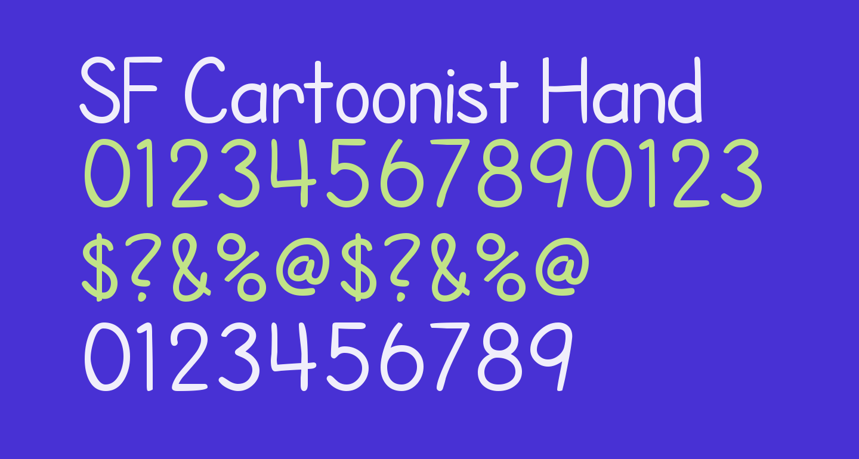 SF Cartoonist Hand