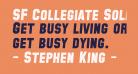 SF Collegiate Solid Bold Italic