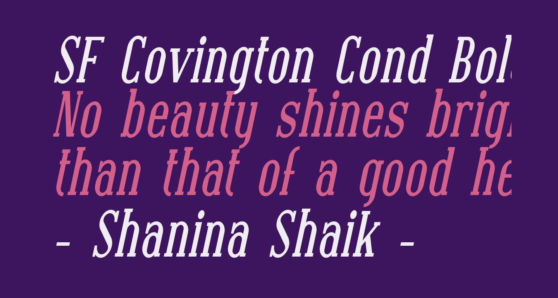SF Covington Cond Bold Italic