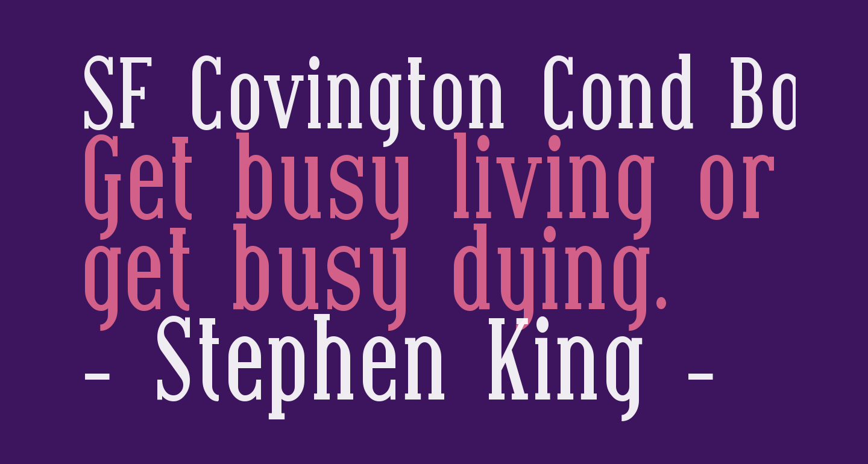SF Covington Cond Bold