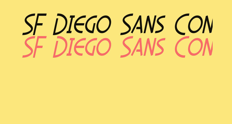SF Diego Sans Condensed Oblique