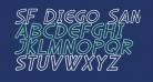 SF Diego Sans Outline Oblique