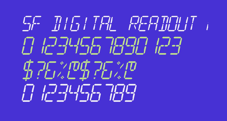 SF Digital Readout Medium Oblique