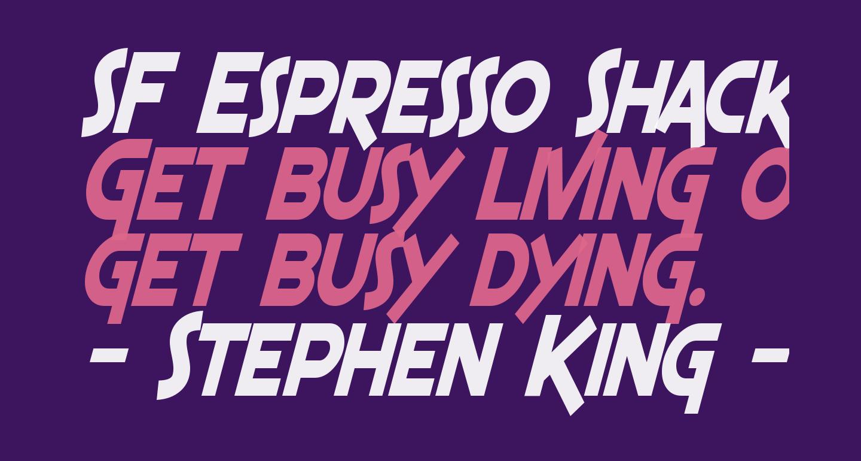 SF Espresso Shack Condensed Bold Italic
