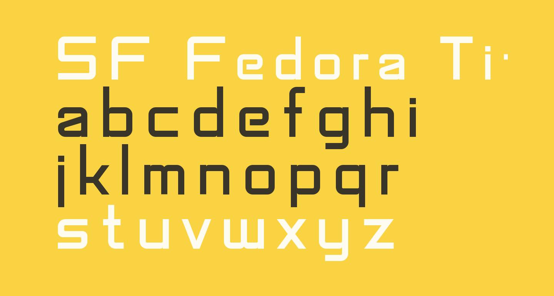 SF Fedora Titles