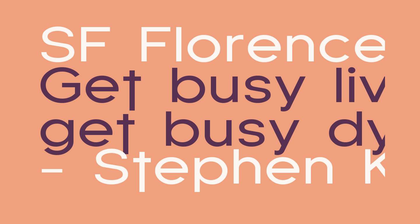 SF Florencesans Exp