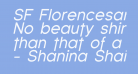SF Florencesans Italic