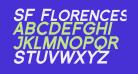 SF Florencesans SC Black Italic