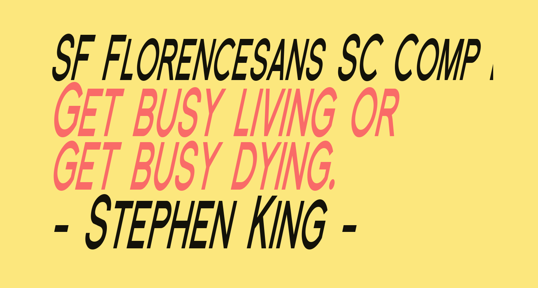 SF Florencesans SC Comp Bold Italic