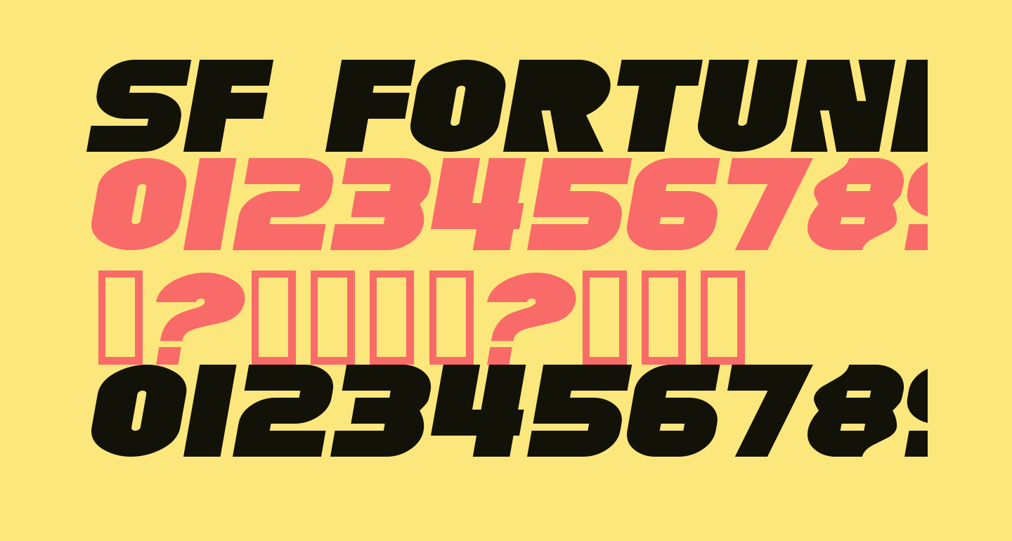 SF Fortune Wheel Extended Italic
