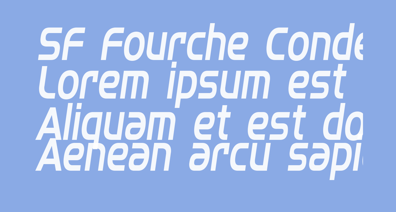 SF Fourche Condensed Italic