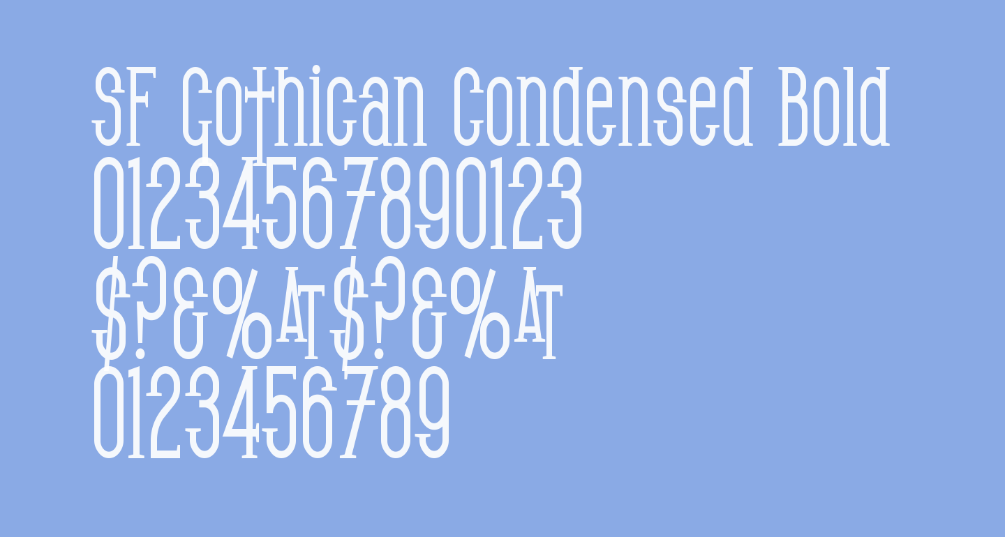 SF Gothican Condensed Bold
