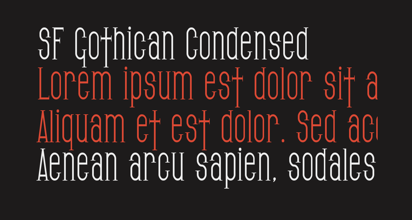 SF Gothican Condensed