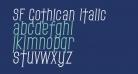 SF Gothican Italic