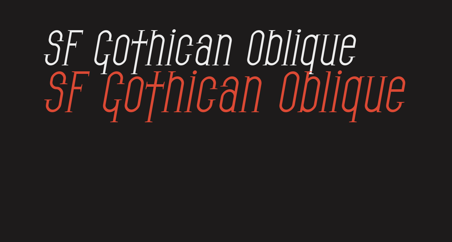 SF Gothican Oblique