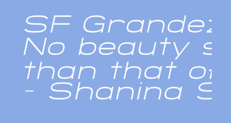 SF Grandezza Light Oblique