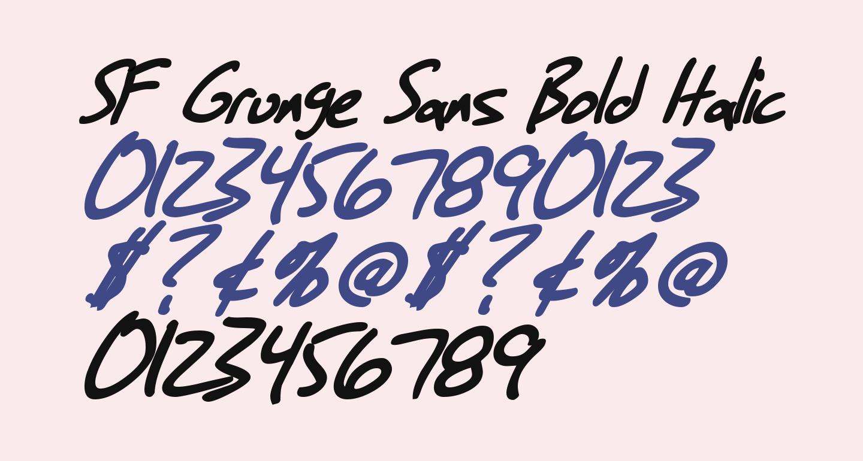 SF Grunge Sans Bold Italic