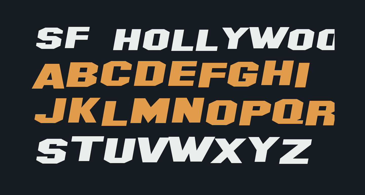 SF Hollywood Hills Extended Italic