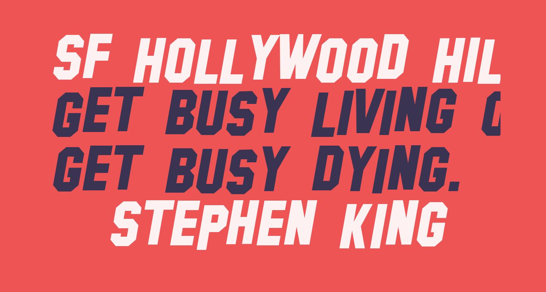 SF Hollywood Hills Italic