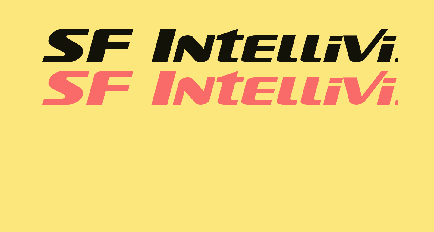 SF Intellivised Extended Italic