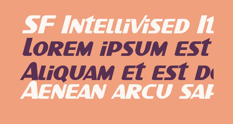 SF Intellivised Italic