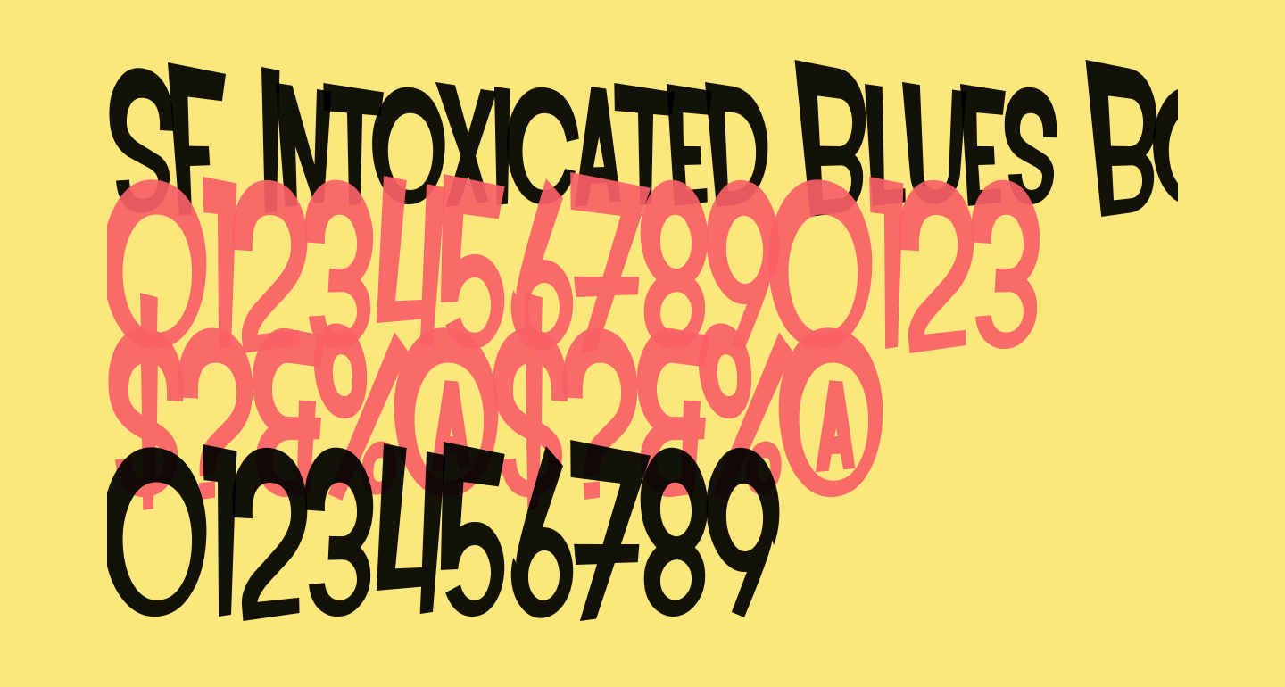 SF Intoxicated Blues Bold