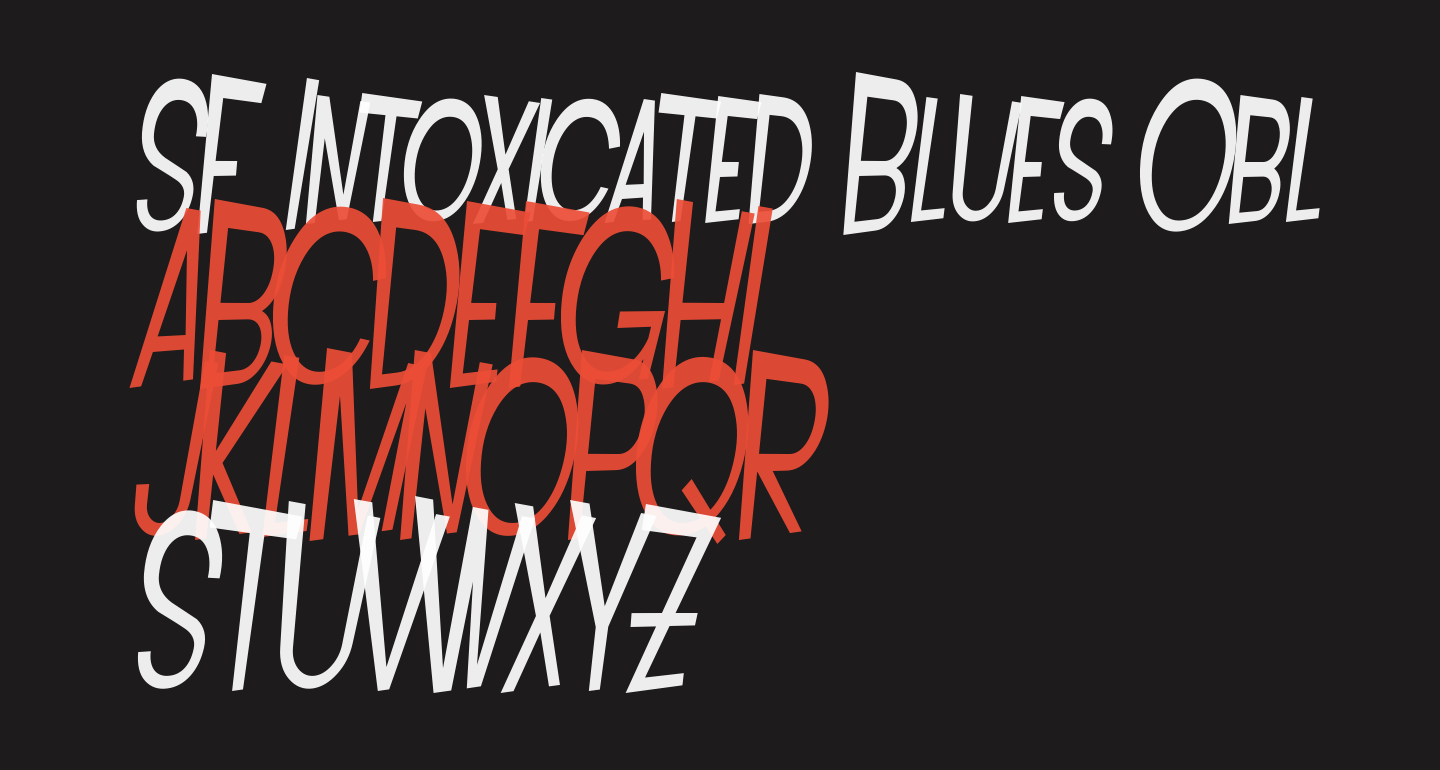 SF Intoxicated Blues Oblique