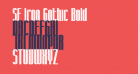 SF Iron Gothic Bold
