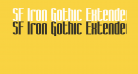 SF Iron Gothic Extended