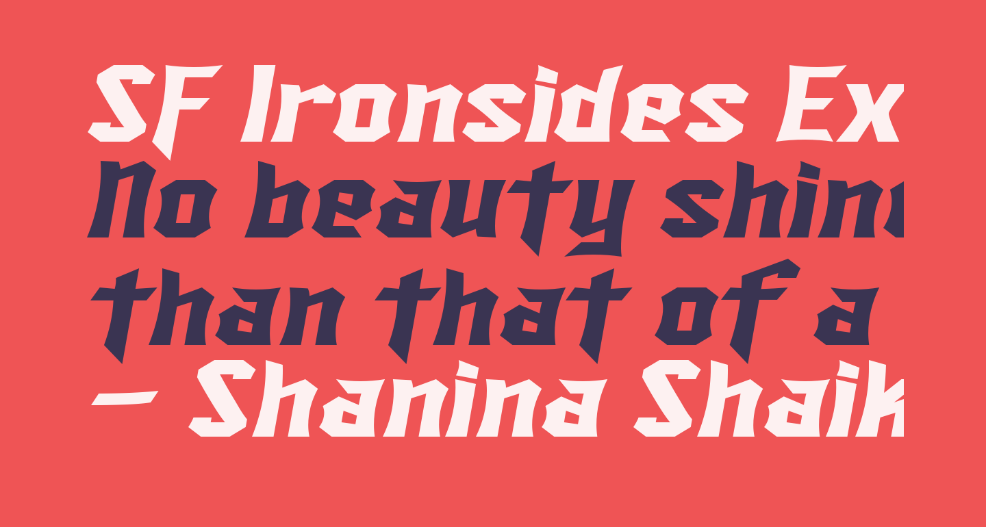 SF Ironsides Extended Italic
