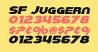 SF Juggernaut Bold Italic
