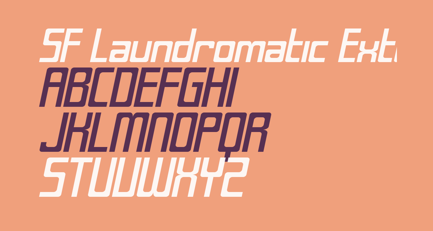 SF Laundromatic Extended Oblique