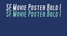 SF Movie Poster Bold Italic