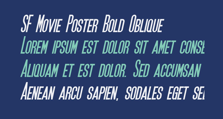 SF Movie Poster Bold Oblique