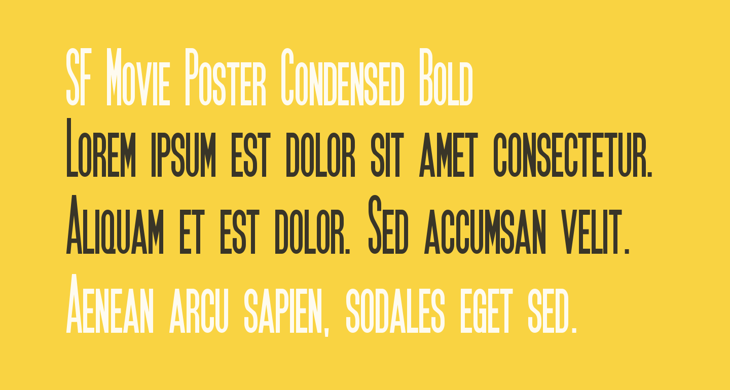 SF Movie Poster Condensed Bold