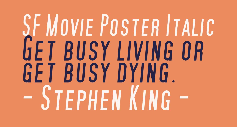 SF Movie Poster Italic