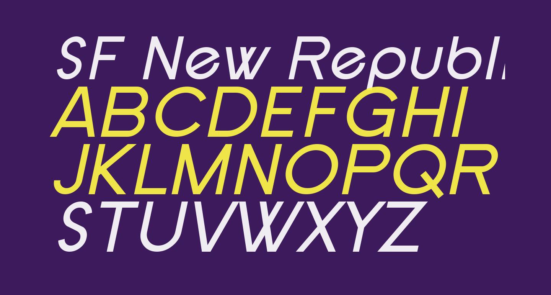 SF New Republic Italic