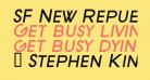 SF New Republic SC Bold Italic