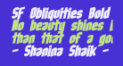 SF Obliquities Bold