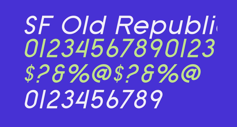 SF Old Republic Italic