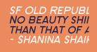 SF Old Republic SC Bold Italic