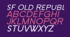 SF Old Republic SC Italic