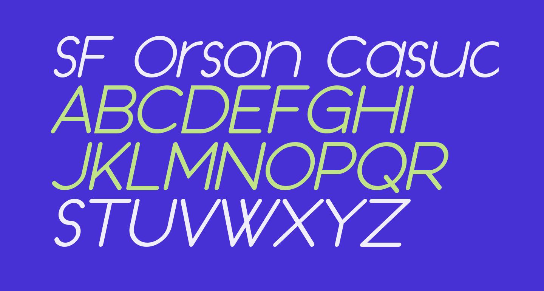 SF Orson Casual Light Oblique