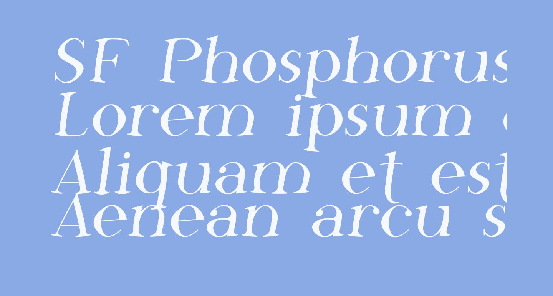 SF Phosphorus Fluoride