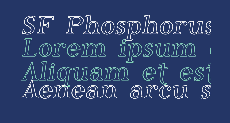 SF Phosphorus Iodide