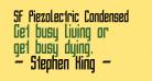 SF Piezolectric Condensed